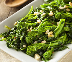 Broccoli Rabe with Garlic & Pine Nuts