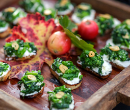 Broccoli Rabe & Goat Cheese Crostini