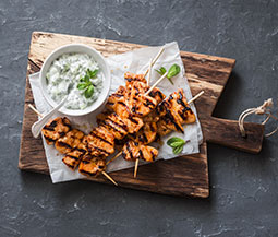 Grilled Chicken Skewers with Tzatziki Sauce