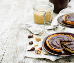 Chocolate & Peanut Butter Mousse Tartlets