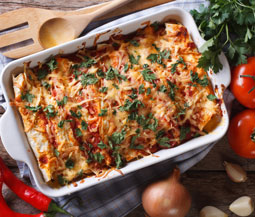 Slow Cooker Shredded Pork Enchiladas Image