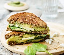 Grilled Rye & Goat Cheese Sandwich