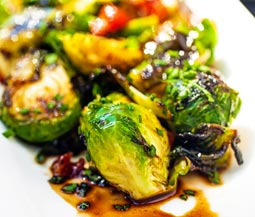 Crispy Bacon and Balsamic Brussels Sprouts