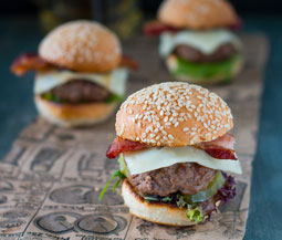 Swiss & Bacon Hamburger Sliders Image