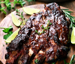 Mustard Rosemary Pork Ribs