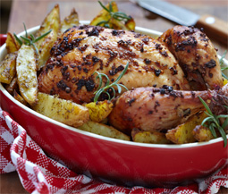 Roast Chardonnay Lemon Chicken Image