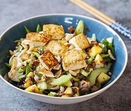 Crispy Tofu Salad with Mango & Cucumber